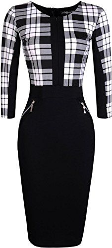jeansian Womens Elegent High Elasticit Evening Gowns Pencil Dresses BlackWhite L * You can get more details by clicking on the image. Classy Outfits, Cool Outfits, Fashion Outfits, Womens Fashion, 2000s Clothing, Pretty Dresses, Dresses For Work, Business Outfits, Shabby Chic