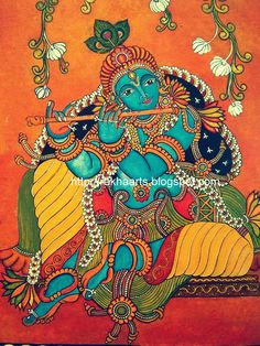 Kerala Mural & Painting Classes Service Provider from Bengaluru Mysore Painting, Kerala Mural Painting, Kalamkari Painting, Madhubani Painting, Pichwai Paintings, Indian Art Paintings, Ganesha Painting, Buddha Painting, Painting Canvas