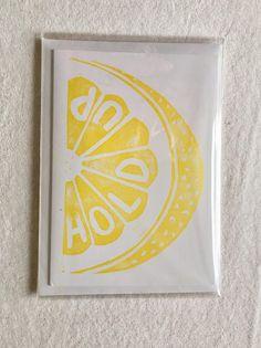 Hold Up  Beyonce Lemonade Lino Print Card
