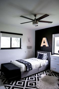 Modern Kids Room, Black And White Kids Room, Shared Kids on Best Room Ideas 2560
