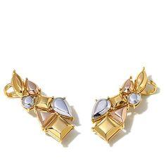 Diamonds Unleashed Ear Climber Pair
