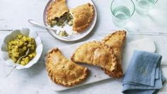 These pasties are one my favourite things to eat, filled with soft baked lamb, potatoes, apples, peas and mint. Perfect for a picnic, accompanied by this aromatic apple pickle.