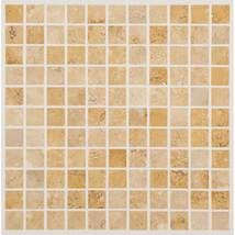 Daltile [Fossil Ridge Cross Cut 1x1] mosaic accent for mom's kitchen backsplash