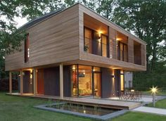 18 Ideas container house wood architecture for Beautifully designed passive house Residential Architecture, Modern Architecture, Architecture House Design, Beautiful Architecture, Building Design, Building A House, Building Ideas, Wooden House Design, Wooden Houses