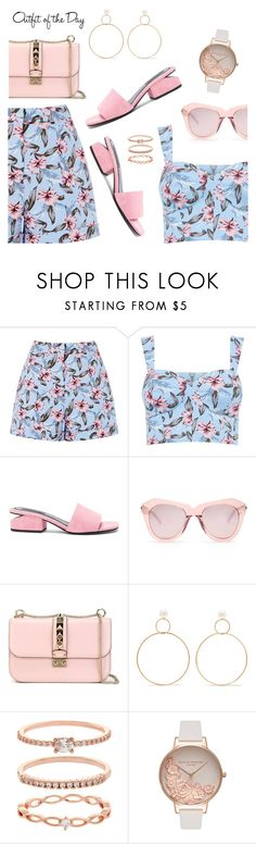 Outfit of the Day by dressedbyrose on Polyvore featuring Alexander Wang, Valentino, Natasha Schweitzer, Olivia Burton, Accessorize, Karen Walker, Petit Bateau, Pink, ootd and pastel