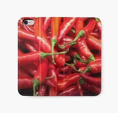 """Red Chilli"" iPhone Wallets by wowarts 