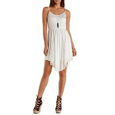 Lace-Trim Backless Dress: Charlotte Russe