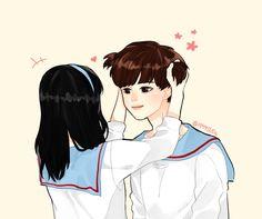 Twice Jungyeon, Twice Kpop, Kpop Drawings, Cute Drawings, Twice Fanart, Lesbian Art, Nayeon Twice, Shared Folder, Bff Pictures