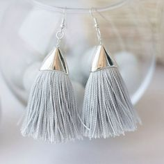Handmade Earrings. Handmade jewelry. Tassel earrings