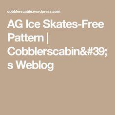 AG Ice Skates-Free Pattern | Cobblerscabin's Weblog