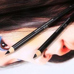 2Pcs Black EyeLiner Smooth Waterproof Cosmetic Beauty Makeup Eye Liner Pencil