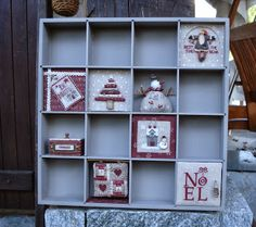 Il est cinq heures.......: Sal Casier CASA / 2 Cross Stitch Finishing, Christmas Embroidery, Cute Little Things, Cross Stitching, Shadow Box, Needlework, Holiday Decor, Printer Tray, Christmas Stuff