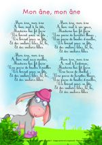 Songs And Nursery Rhymes Luxe Lyrics My Donkey Kids - Chansons Et Comptines Luxe Paroles Mon âne Enfants Songs And Nursery Rhymes Luxe Lyrics My Donkey Kids French Education, Kids Education, French Poems, French Practice, French Nursery, Material Didático, French Kids, French Classroom, French Lessons