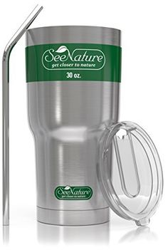 Christmas Special Price  SeeNature Stainless Steel Tumbler  30oz Double Wall Vacuum Insulated Keeps Your Drink Hot Longer  Cup Lid  Straw Coffee Travel Mug Set *** Check out this great product.