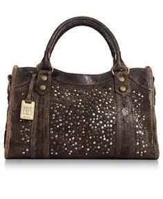 Frye Handbag, Deborah Satchel - Frye - Handbags & Accessories - Macy's Beautiful Handbags, Brown Leather Purses, Big Bags, Day Bag, Womens Purses, Balenciaga City Bag, Handbag Accessories, Purses And Handbags, Satchel