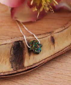 ON SALE Hamsa opal choker necklace Black opal by GemazoneJewelry