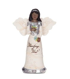 Pavilion Gift Company Elements 82326 Ebony Angel Figurine Holding Flowers Thinking of You 512Inch *** Check out this great product by click affiliate link Amazon.com