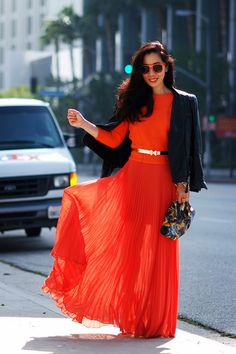 "Asos Skirts, Alexander McQueen Bags   ""Maxi Orange"" by HallieDaily"