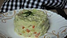 Salata de legume cu piept de pui si maioneza din avocado
