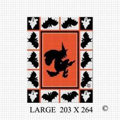 COZYCONCEPTS BUY 2 GET 1 FREE. HALLOWEEN WITCH BAT GHOST BLANKET CROCHET AFGHAN PATTERN GRAPH .PDF by cozyconcepts