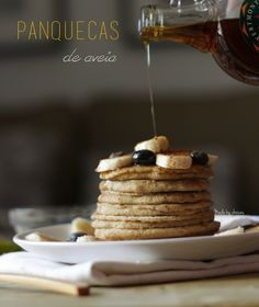 Panquecas de aveia | Oatmeal pancakes - Made by Choices