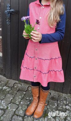 Lilia - Jeanskleid, Jeansjersey, lillestoff, Herbstkleid, Winterkleid, gialLino, (*Werbung*)
