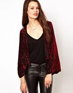 Winter Kate Flocked Velvet Jacket