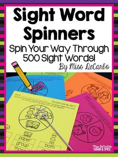 Sight Word Spinners: Using Small Group Warm Ups To Maximize Your Time At The Small Group Table: Tips For Elementary Small Group Instruction Teaching Tips, Teaching Reading, Guided Reading, Reading Skills, Phonics Reading, Second Grade Sight Words, 2nd Grade Ela, Grade 2
