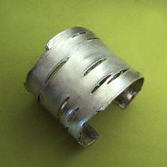 New Birch Bark Cuff Bracelet in Sterling Silver   Elizabeth Scott Jewelry {take 10% off with code 10offsilver through Oct. 31}