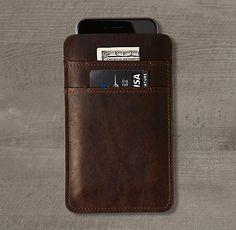 Italian Leather Accessories for iPad® & iPhone® | RH