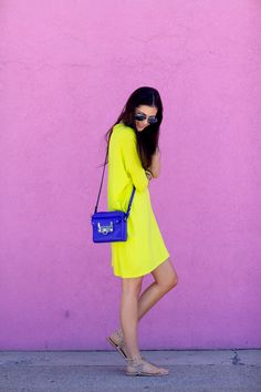 Go for bold on bold this summer! Pair two bright colors together for an eye-catching combo.