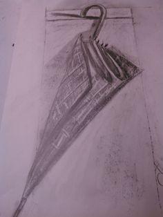 Carboncillo y lápiz.