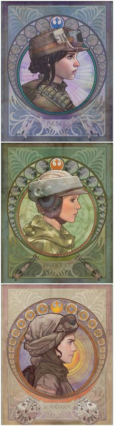 May the force be with her.  One, an outsider, the other, royalty. One unknown. All Heroes.: