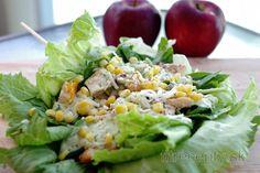 Ľahký kurací sendvič v šaláte s avokádovým dressingom Mushroom Salad, Mushroom And Onions, Avocado Dressing, Chicken Sandwich, Chicken Salad, Healthy Fats, Healthy Recipes, Avocado Salat, Sandwiches