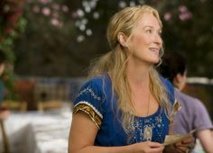 Meryl Streep as Donna in Mamma mia! (2008)  Mamma Mia! is a musical/comedy adapted from the 1999 West End/2001 Broadway musical, based on the songs of successful pop group ABBA, with additional music composed by ABBA member Benny Andersson. The film was directed by Phyllida Lloyd.   Meryl Streep heads the cast, playing the role of single mother Donna Sheridan. Pierce Brosnan, Colin Firth, and Stellan Skarsgård play the three possible fathers to Donna's daughter, Sophie (Amanda Seyfried).