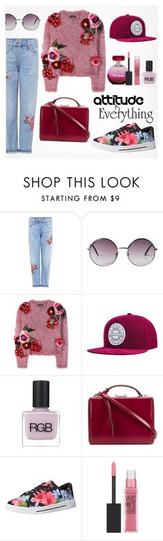 """""""Chic Attitude"""" by fancy-chic ❤ liked on Polyvore featuring Citizens of Humanity, Monki, Dolce&Gabbana, Brixton, RGB Cosmetics, Mark Cross, Ted Baker and Maybelline"""