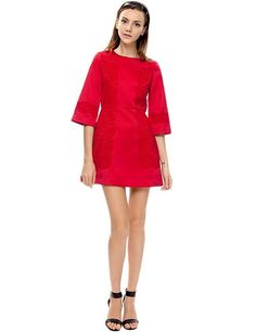 If you want to BE CHARMING choose red - a perfect Christmas color, sexy and energetic. This'll make you look classy and confident. Pixie Market Mercer Red Lace Coctail Dress $120