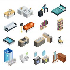 Interior isometric objects set Free Vect... | Free Vector #Freepik #freevector #freeflower #freebusiness #freehouse #freecomputer Luxury Business Cards, Business Card Mock Up, Modern Business Cards, Isometric Drawing, Isometric Design, Art Isométrique, Icon Design, Layout Design, What Is Graphic Design