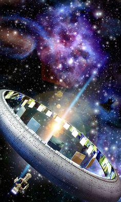 Ringworld (Larry Niven), art by Luca Oleastri - www.innovari.it #scifi #illustrator