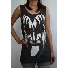 Gene Simmons Kiss American Rock T-shirt Tank Tops Vest