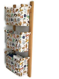 Wall hanging organizer  with 3 pockets / containers  by OdorsHome, $94.00