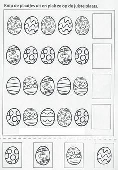 School Age Activities, Easter Activities For Kids, Preschool Learning Activities, Free Kindergarten Worksheets, Worksheets For Kids, Easter Arts And Crafts, Classroom, Go Math Kindergarten, Preschool
