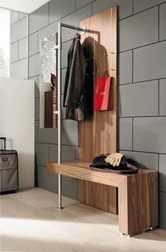 Entryway benches with storage are one of the most practical, attractive and elegant space saving ideas to add comfort to small entryways Entryway Bench Storage, Bench With Storage, Storage Hooks, Entryway Ideas, Hallway Ideas, Entryway Hooks, Hallway Unit, Hallway Bench, Small Entryways