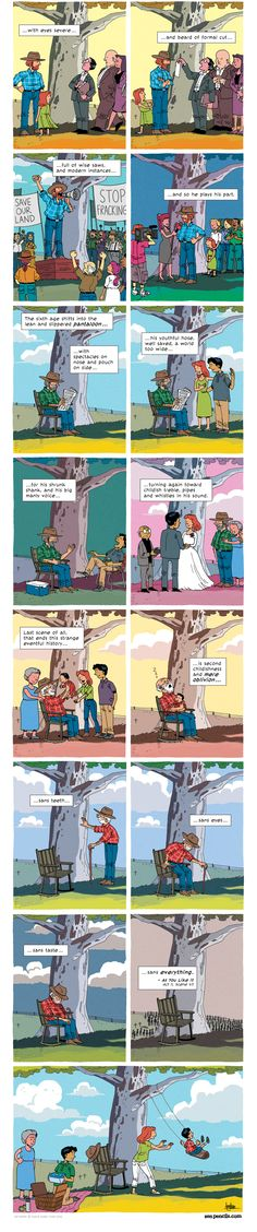 Part 2 - ZEN PENCILS » 175. SHAKESPEARE: All the world's a stage