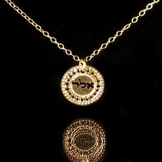 Kabbalah Gold necklace Kabbalah jewelry Hebrew by KelkaJewelry