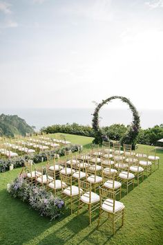 circular floral arch wedding ceremony thailand