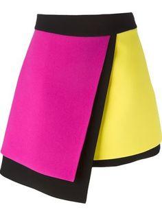 colour block asymmetric skirt Fausto PUGLISI