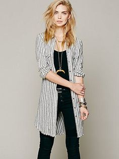Free People Between The Lines Buttondown.  such a cool look, could never pull it off.