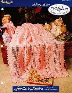 Shells & Lattice  Needlecraft Afghan Crochet Pattern Instruction Page #TheNeedlecraftShop