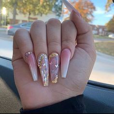 In seek out some nail designs and some ideas for your nails? Listed here is our listing of must-try coffin acrylic nails for stylish women. Bling Acrylic Nails, Best Acrylic Nails, Bling Nails, Swag Nails, Glitter Nails, Bling Nail Art, Rose Gold Nails, Pink Acrylics, Rhinestone Nails